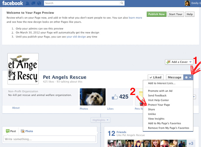 facebook how to make pics appear on timeline